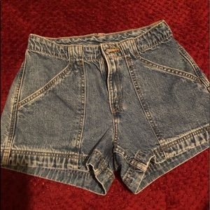 Levi Mid Rise Jean Shorts